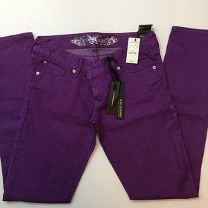 Express Purple Jean Legging.  Slim Fit Low Rise 6R